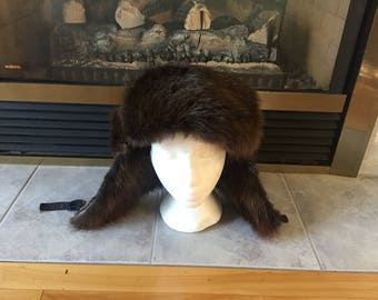 Fur Trapper Hats/Ushankas made of Beaver