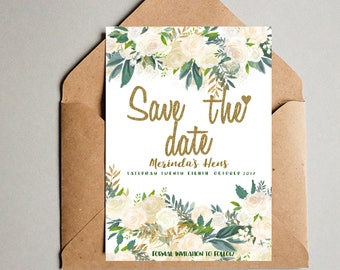 Unlimited Personalised Save The Date  Engagement , Bridal Party , Hens Anniversary  ( Personlized ) - Full file