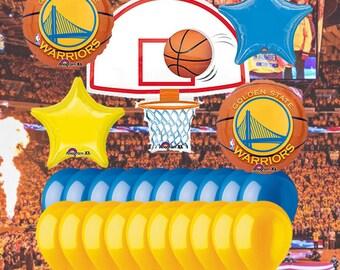 Golden State Warriors 25 Piece Balloon Set