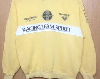 Rare !!! Vintage Racing Team Sunsuperbe Sweatshirt Fomula 1 Sweatshirt