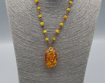 Amber & Citrine Necklace