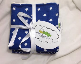 3 Pack Polka Dot, Stripes and Stars Baby Washcloths