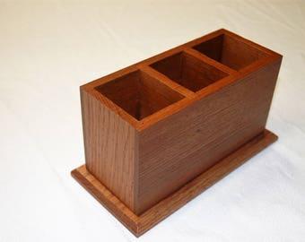 Solid Oak Desk Organizer