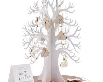 Wooden Wishing Tree Wedding Guest Book