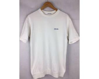 ADIDAS Trefoil Short Sleeve Sweatshirt Pull Over Activewear Medium Size