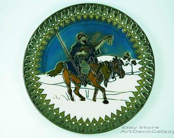 Antique Imperial Amphora Austrian Ceramic Plate