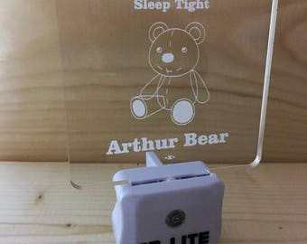 Personalised Night Light for New Born, Baby, Toddler and great Baby Shower Gift