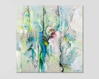 Large Wall Art Canvas Prints, Abstract Art, Sparkling Color by Andris Melngalvis, Modern Art