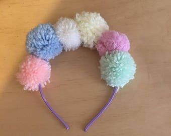 pompom headband