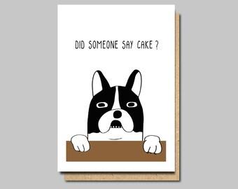 Funny Birthday Card Dog Vegan