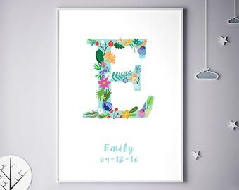 Personalized Baby Gifts, Personalized Prints, Erin, Erica, Eve, Eva, Eleanor, Elena, Personalized Poster, Baby Gift, Halloween