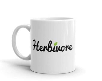 Herbivore Mug (11 oz.) | Vegan, Vegetarian, Vegan Mug, Vegetarian Mug, Plant-Based, Animal Rights, Coffee, Covfefe