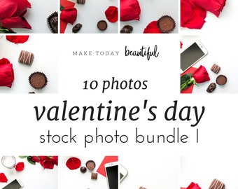 Valentines Stock Photo Bundle I | Styled Stock Photos | Marketing Images For Your Social Media | Make Today Beautiful