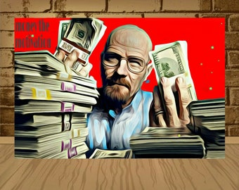 money the motivation poster,motivation print,motivation art,breaking bad poster,breaking bad print,breaking bad,home decor,painting print