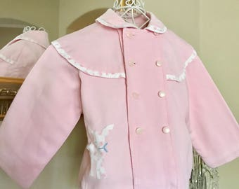 Vintage Baby Double Breasted 1950 Jacket /Coat