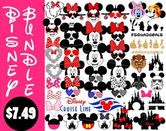 Disney svg bundle Minnie Mouse svg Mickey Mouse svg Disney castle svg Sunglasses svg files for Cricut Silhouette svg png eps dxf cut files
