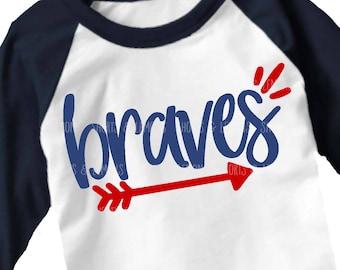 Braves svg file, Arrow svg, Braves svg, Cut File, braves iron on, brave svg, Silhouette, Printable iron on, Digital Download, Cricut, dxf