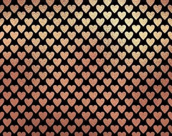 Hearts/glitteredheart/blackandgold/printed vinyl/HTV/vinyl/651/oracal/adhesive/blanks/small business/heat transfer/