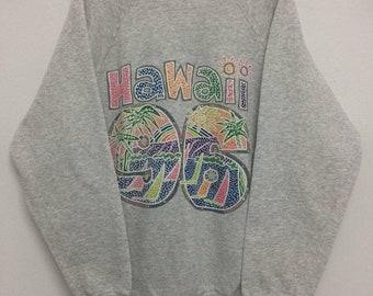 MEGA SALE Vintage Hawaii Sweatshirt / Hawaii Shirt / Surfing Sportwear