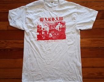 Joy Division Warsaw Silkscreened Shirt