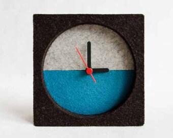 Felt Table Clock, Gift, Modern Clock, Contemporary Clock