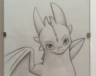 Toothless pencil sketch