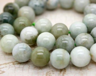 Myanmar Jade Natural Smooth Round Sphere Ball Gemstone Beads 6mm 8mm 10mm 12mm