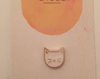 White Cat Badge