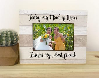 Maid of Honor Frame Maid of Honor Gift Sister in law Gift. Sister in law Frame. Bridesmaid Thank you Gift  Personalized Bridesmaid Frame