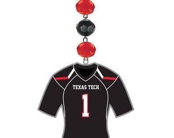 TEXAS TECH Red Raiders *Football Jersey* MAGNETIC Ornament,Red Raiders Home Decor,Red Raiders Decor,Red Raiders Ornament, Texas Tech,Ttu