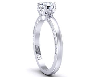 Solitaire Diamond Engagement Ring 1283