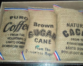 Gift set of Dominican Coffee, Cacao, cane sugar
