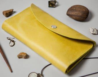 Woman Leather Purse Iris Lemon