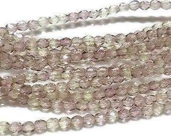 4MM Czech Glass Faceted Beads