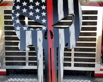 Huge 2.5 ft. Firefighter Punisher!!! Rustic, decor