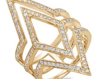 Statement Rings,Diamond ring,Rings,Womens rings,Jewelry rings,14K Gold jewelry,14k Gold Ring,Rose Gold ring,Fine jewelry rings,Fine Jewelry