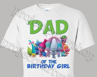 Trolls Dad Shirt, Trolls Birthday Shirt, Trolls Mom Shirt