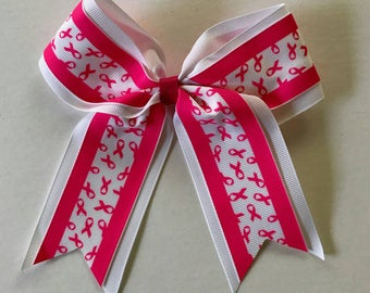 Breast Cancer Awareness Cheer Bow, Cheer Bow, Cheerleading Bow, Pink Cheerbow, Breast Cancer Cheerbow, Breast Cancer Awareness Bow
