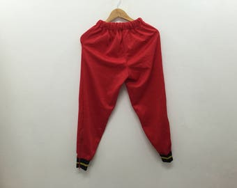 RARE!!! Vintage 90's Champion Tracksuit Pants jogging athlete  Lacoste Kappa Hip Hop Adidas Nike Fred Perry