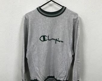 20% Sale Vintage Champion Embroidery Logo Sweatshirt