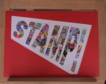 In-a-Word - Postage Stamp Art