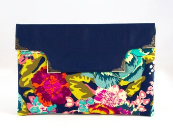Vegan Leather Floral Cut Out Clutch. Fashion Purse. Everyday Purses. Medium Purses. Purses. Navy Purse.
