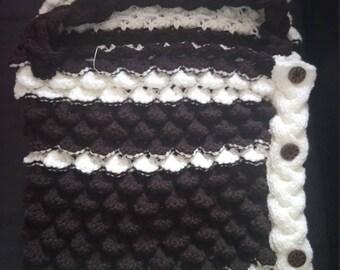Baby blanket, wool blanket, blanket handmade warm blanket, blanket winter blanket hood down