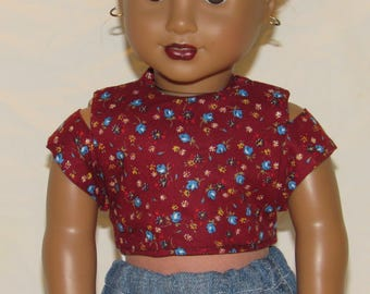 Slit-Sleeved Top for 18 inch dolls