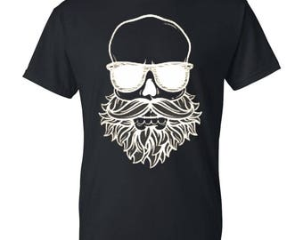 Bearded skull Mens / Womens T-shirt High Quality Fashion Style Hand Crafted Apparel Bulk Orders Discounts !