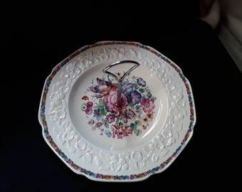 Crown Ducal Gainsborough Cake Plate.