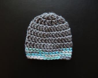 Crochet baby hat-Crochet baby boy hat- Baby boy beanie-Crochet baby beanie-Crochet baby cap-Winter baby hat-Winter baby beanie-Baby shower
