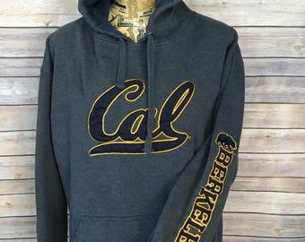 Vintage Cal Berkeley Go Bears Hoodie Sweater (XL)