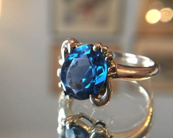 Blue Topaz 10k gold ring
