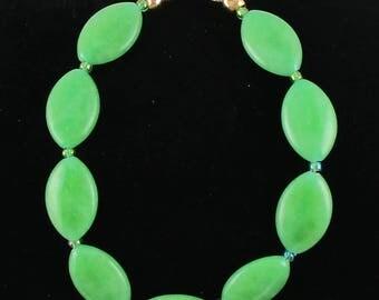 Dyed Jaed Stone Beaded Bracelet Simple Bracelet
